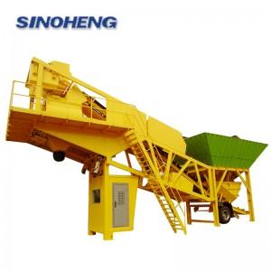 HZSY50 50m3/h mobile concrete mixing plant