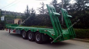 3 Axles Low-Bed Semi Trailer 60 Ton