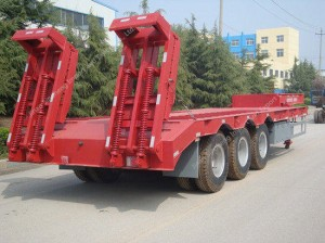 3 Axles Low-Bed Semi Trailer