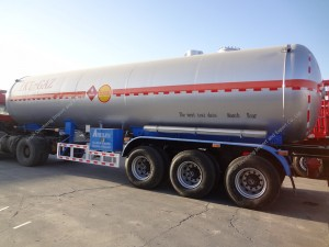 3axles 57.5m3 Propylene Tanker Semi Trailer