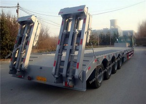4 Axles Low-Bed Semi-Trailer 80Ton