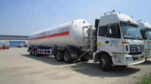 52.6M3 3 Axle Cryogenic LNG Tank With Trailer