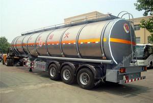 Aluminium Réservoir de carburant 36m³ Semi-remorque
