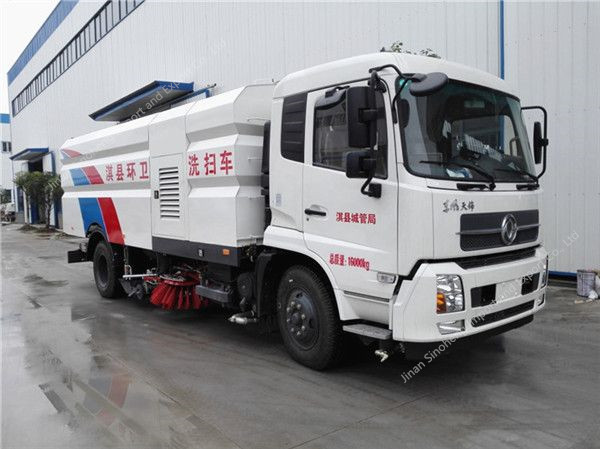 Tianjin Tractor Parts : Dongfeng tianjin washing sweeper truck china dump