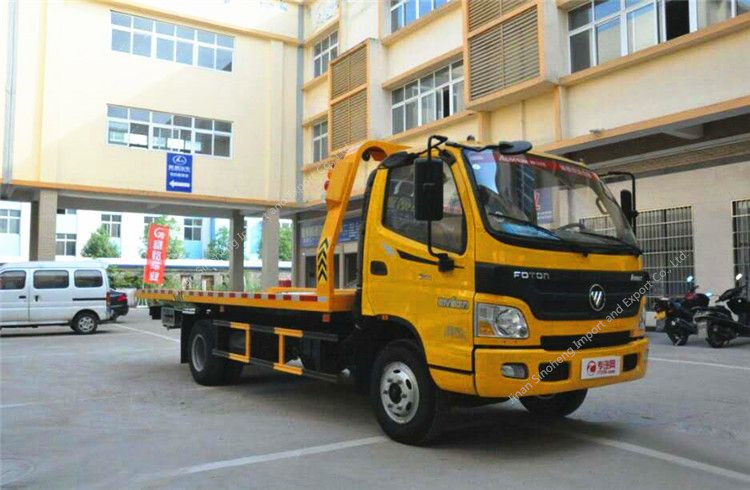 Foton flatbed wrecker towing truck