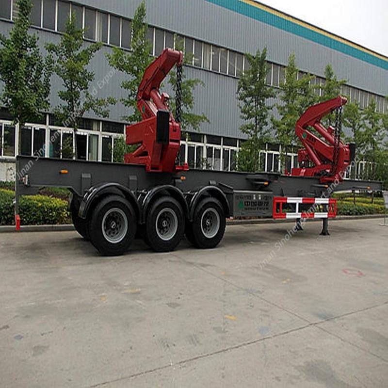 Indonesia-1 Units Side Lifter Crane Semi-trailer