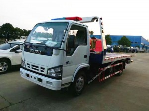 ISUZU flatbed wrecker towing truck