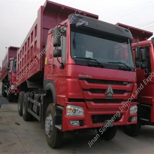 Nigeria-4 unités HOWO ZZ3317N4247 Camion à benne basculante