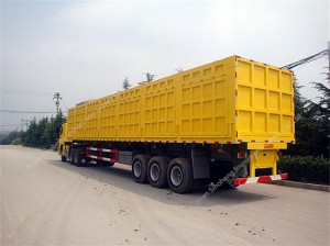 Side Dump Semi trailer 70Ton