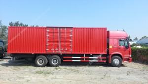 SINOTRUK HOWO 336hp 6X4 Camion Fourgon