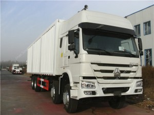 SINOTRUK HOWO 8X4 Van Cargo Truck