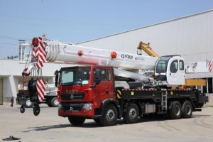 camion grue QY80